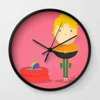 aquaman Wall Clocks featuring My liquid hero! by Juliana Rojas | Puchu