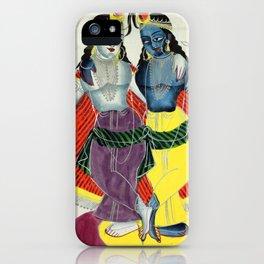 Balarama and Krishna - Vintage Indian Art Print iPhone Case