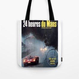 Le Mans poster, 1971, Le Mans t shirt, vintage car poster Tote Bag