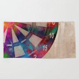 darts sport art #darts #sport Beach Towel