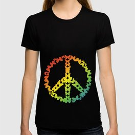 Novelty Retro Introvert Antisocial Tee Shirt Gift	Vintage Butterflies Peace Sign Cool Hippie Men T-shirt