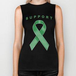 Green Awareness Ribbon Biker Tank