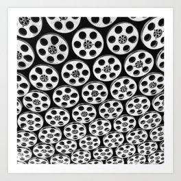hollywood & vine film spools Art Print