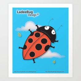 LadeeBug Design Art Print