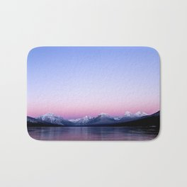 pastel mountain lake sunset Bath Mat