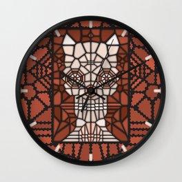 Demon skull voronoi Wall Clock
