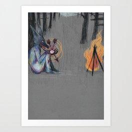 Ulv og Flammer Art Print