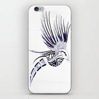 maori iPhone & iPod Skins featuring Colibri Maori by Aurélie B