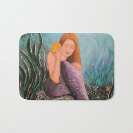 Mermaid Under The Sea Bath Mat