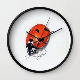 Little Lady Bug Art Wall Clock