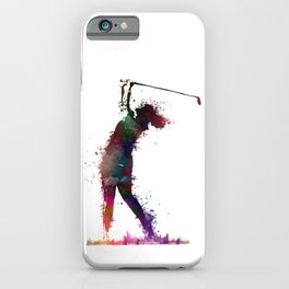 Golf player art 2 iPhone Case