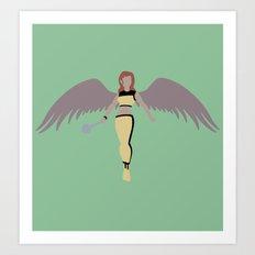 Hawkgirl Art Print