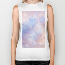 cotton candy clouds Biker Tank