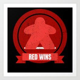 Red Meeple Wins Design Art Print