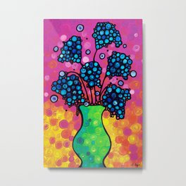 Whimsical Colorful Flower Bouquet by Sharon Cummings Metal Print