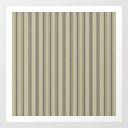 Brown vertical ticking stripes Art Print