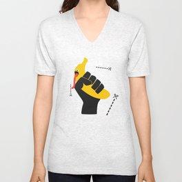 Banane WTF (black model) Unisex V-Neck