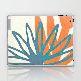 Mid Century Nature Print / Teal and Orange Laptop & iPad Skin