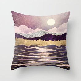 Lunar Waves Throw Pillow
