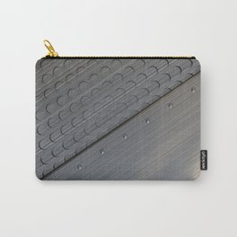 Brushed metal plate with rivets and circular grille Carry-All Pouch