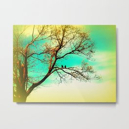 Two Crows on a Branch Metal Print
