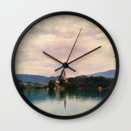 Lake Bled Fairy Tale Wall Clock