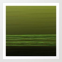 Horizon (olive green) Art Print