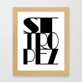 St. Tropez in black Framed Art Print