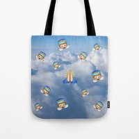 emoji Tote Bags featuring Heavenly Emoji by jajoão