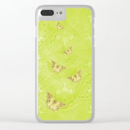 Emerging treasure from ghostly landscape Clear iPhone Case