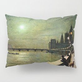 Reflections on the Thames River, London by John Atkinson Grimshaw Pillow Sham