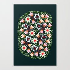 Bed of Flowers Canvas Print
