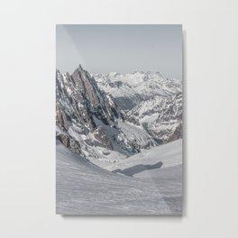 Mountain peaks - Mont Blanc serie 4 - rocks and snow Metal Print