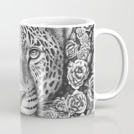 Jaguar in flowers Coffee Mug