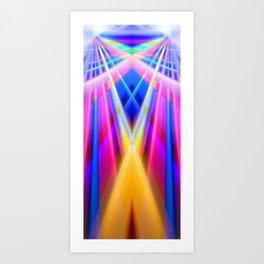Convergencia doble Art Print