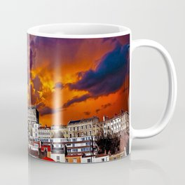 Dramatic Sunset Cityscape Coffee Mug