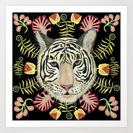 Tiger Botanical Art Print