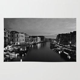 Amazing Venice, Italy travel, dark, black, white Rug