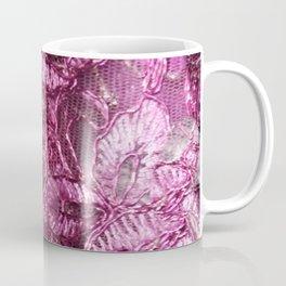 Fuchsia Pink Lace Coffee Mug