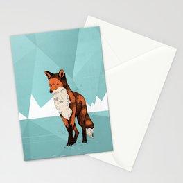 Ice Fox  Stationery Cards