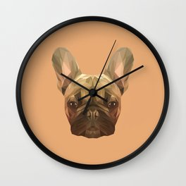 French bulldog puppy low poly. Wall Clock