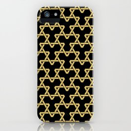 Tan Triangles on Black iPhone Case