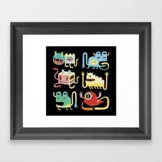 Petits monstres  Framed Art Print