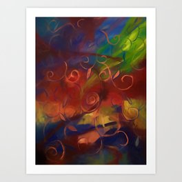 Fall Abstract With Swirls Art Print