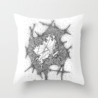 fractal Throw Pillows featuring Fractal by Abstract Al