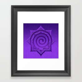 okataar purple mandala Framed Art Print