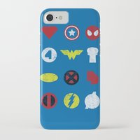 super heroes iPhone & iPod Cases featuring Super Simple Heroes by Resistance