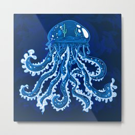 Misterious jellyfish Metal Print