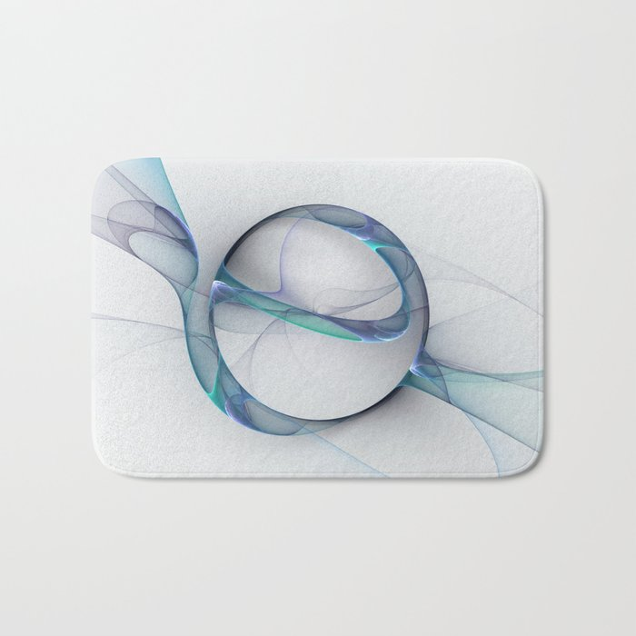 Minimalist Abstract, Fractal Art Bath Mat