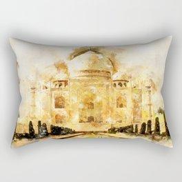 Taj Mahal Painting Rectangular Pillow